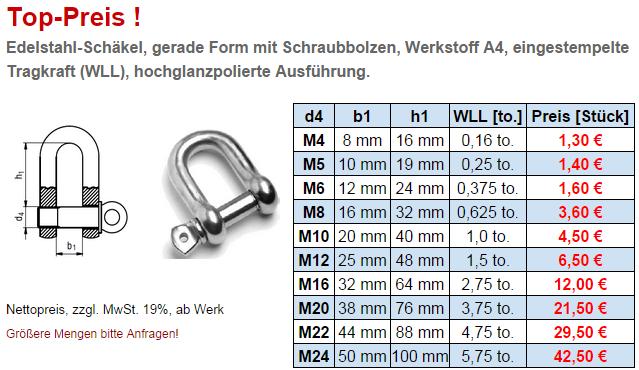 Schakel Hochfeste Schakel Din 82101 Schakel Edelstahl Schakel